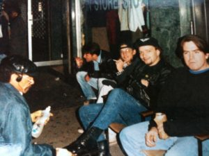 Carl, Myself, Erik, Scott, Some Dude with Soap, NYC, 1993