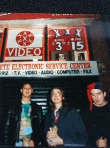 Carl, Myself, Scott, NYC, 1993