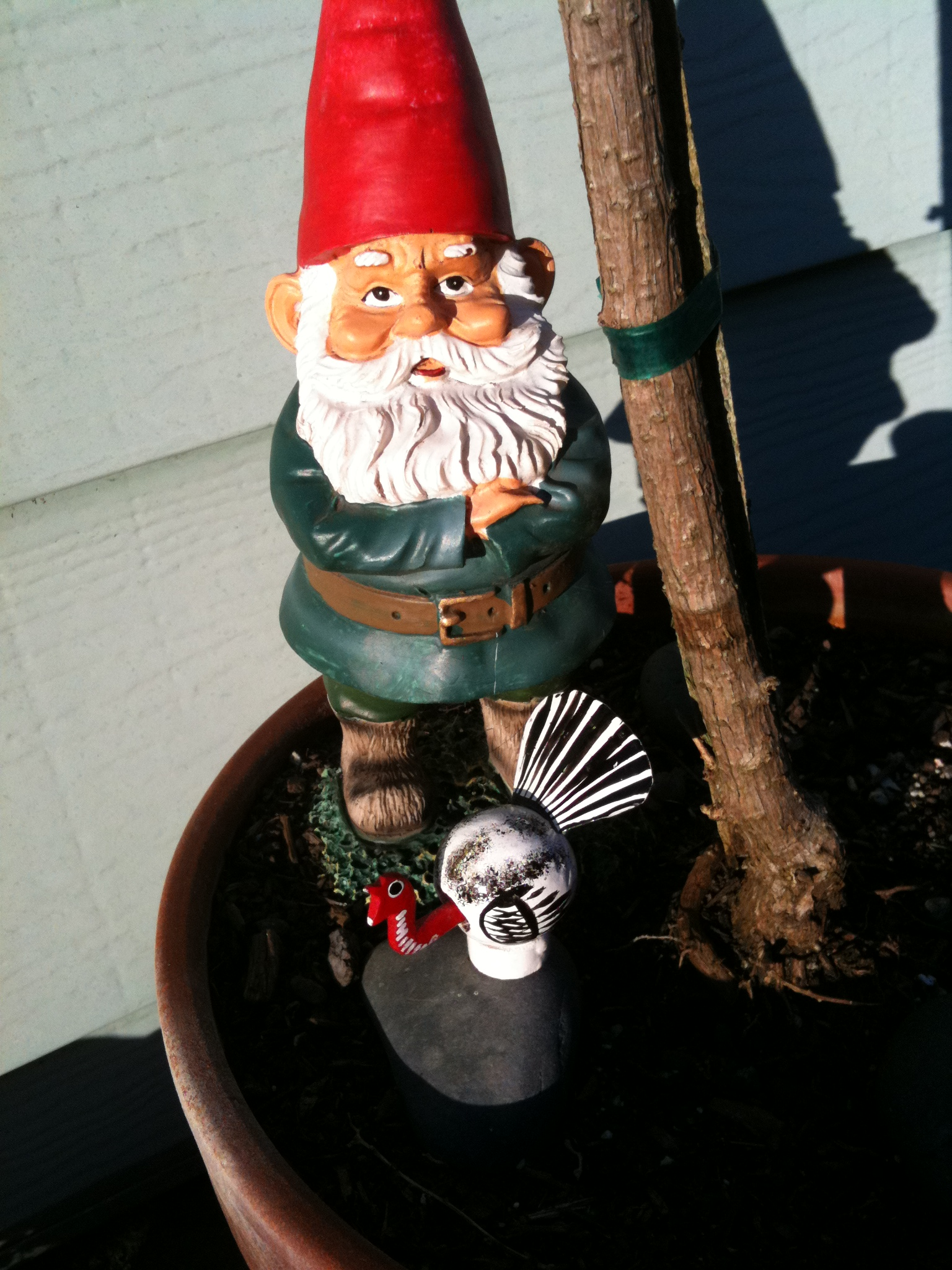 The Impossible Turkey and his friend the Gnome.
