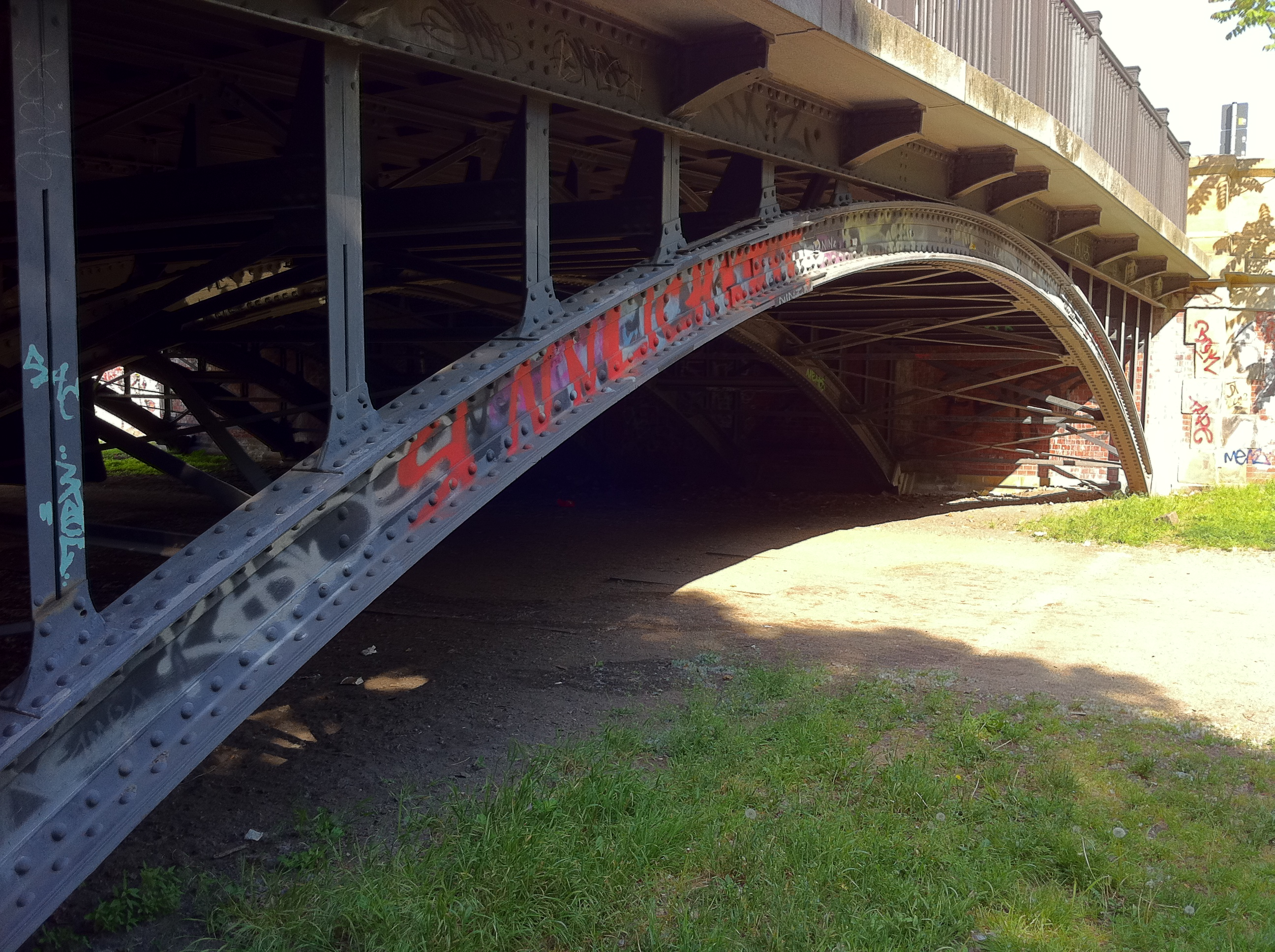 A bridge with graffiti in Berlin.