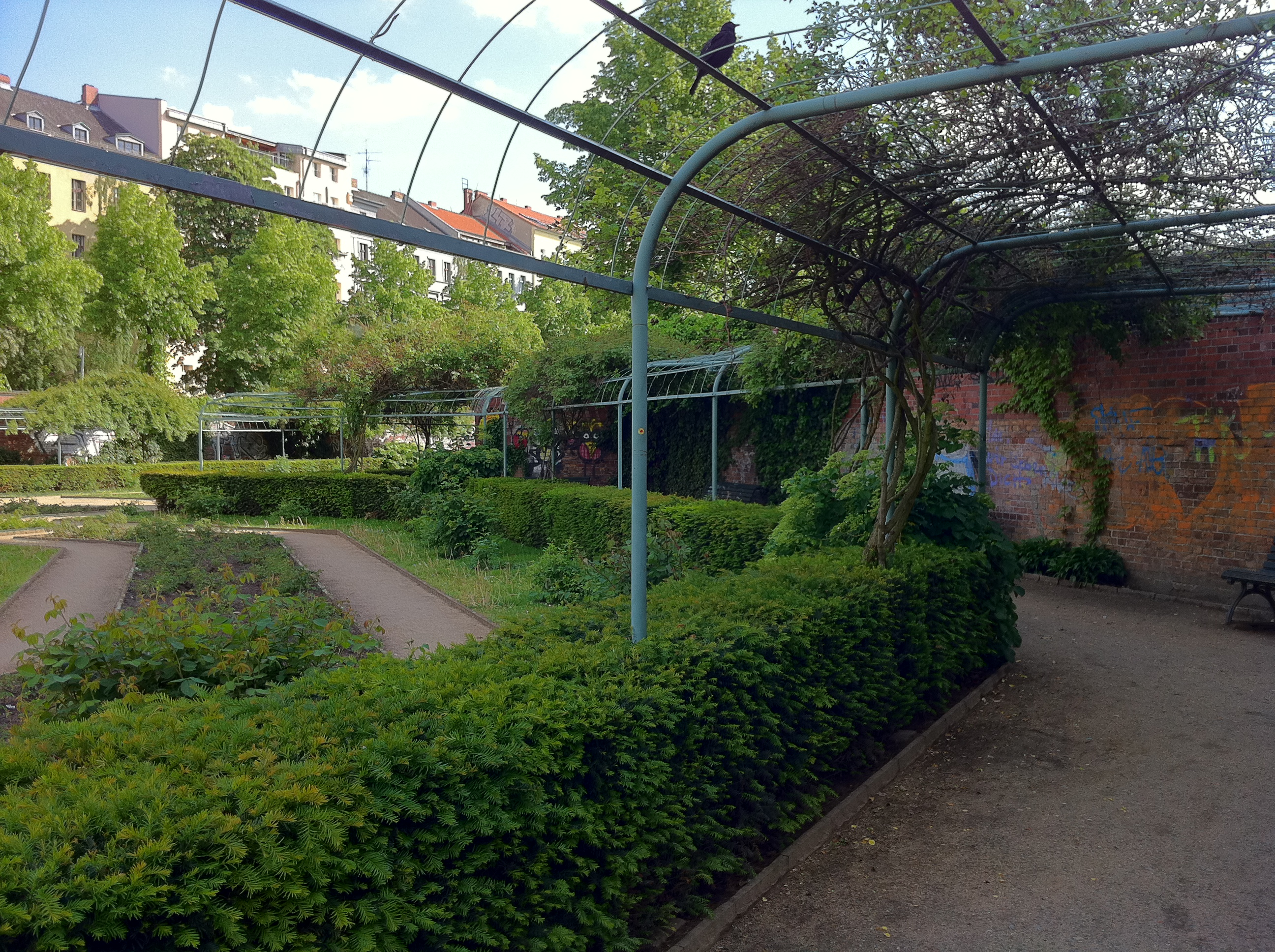 A garden walkway in Berlin.