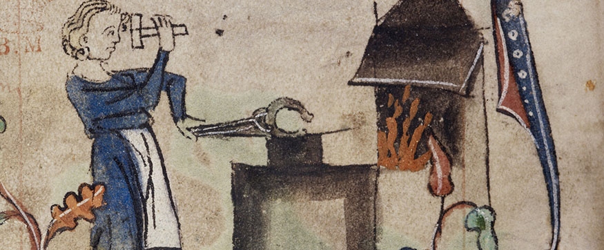 Book of Hours - caption: 'Marginal bas-de-page detail showing a