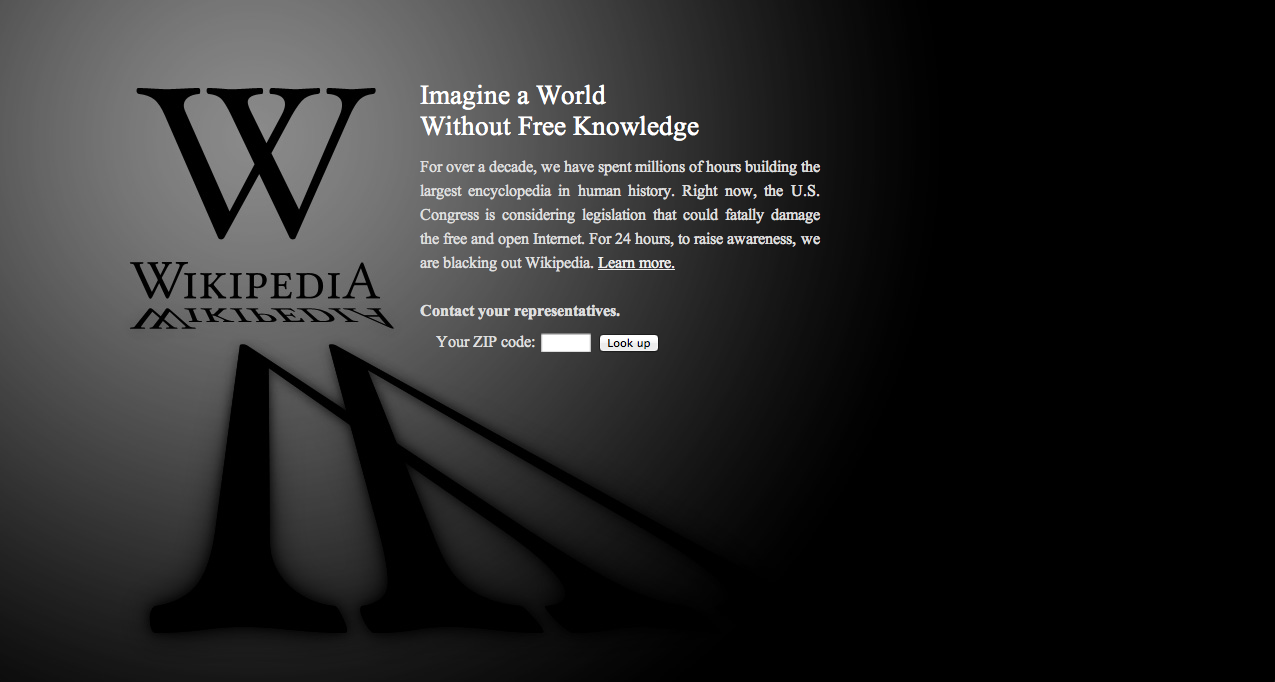 WP Anti-SOPA Screenshot