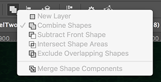 Where to find the Merge Shape Components menu