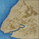 "A Stamped Mountain Range with Blend Mode ""Overlay"""