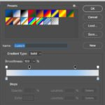 The Gradient Editor Dialog Settings